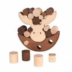 GOKI Drewniana gra zręcznościowa Balansujący Łoś 4+