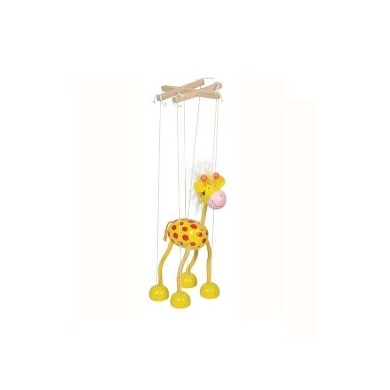 GOKI Drewniana marionetka do zabawy ŻYRAFA 3+