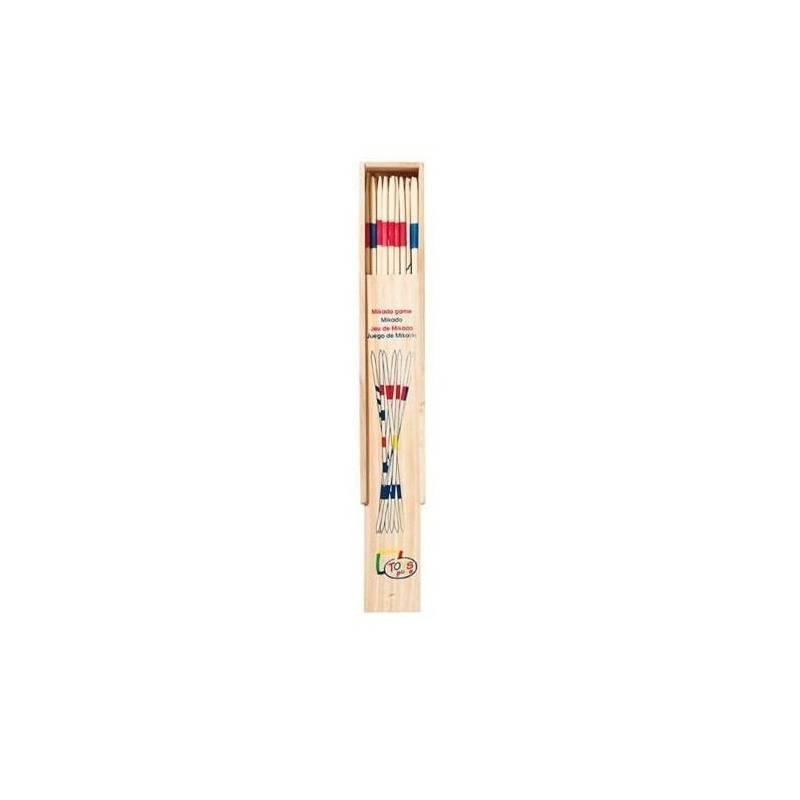 GOKI Drewniane bierki Gra rodzinna zręcznościowa 28cm